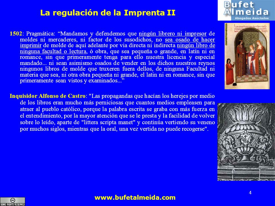 La regulación de la Imprenta II