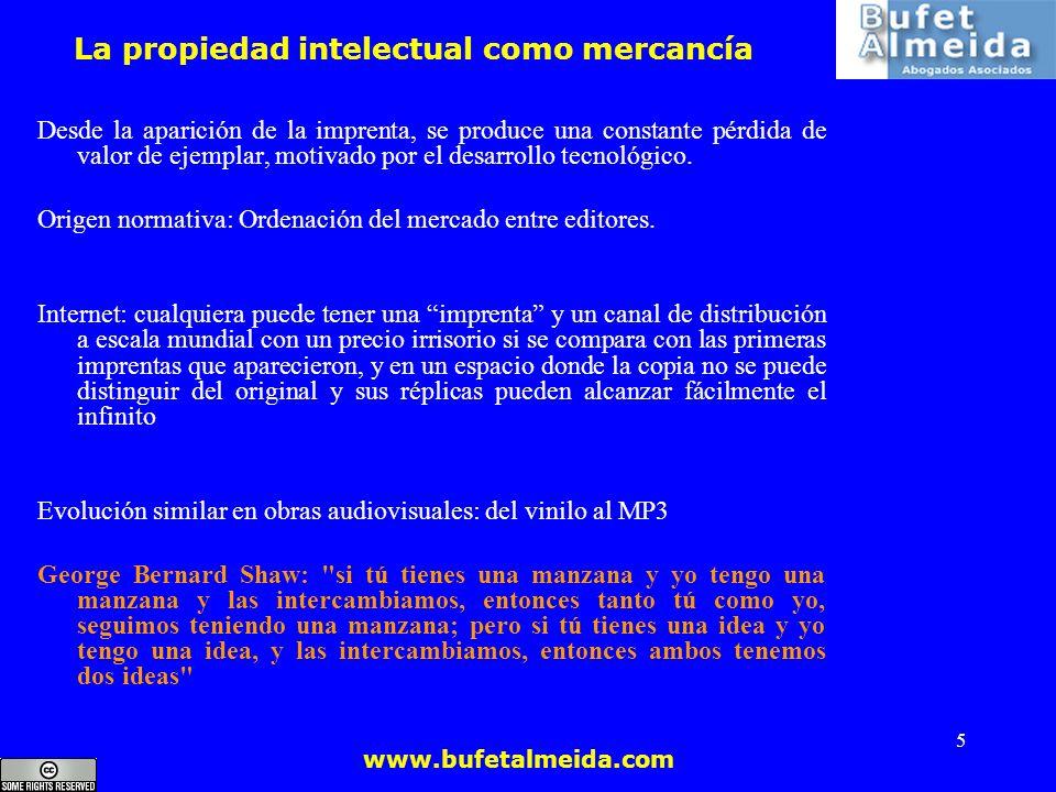 La propiedad intelectual como mercancía
