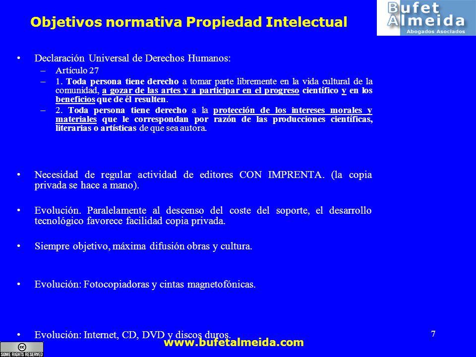 Objetivos normativa Propiedad Intelectual