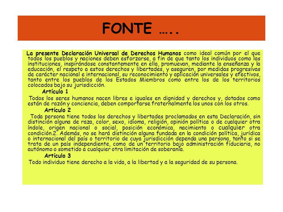 FONTE …..