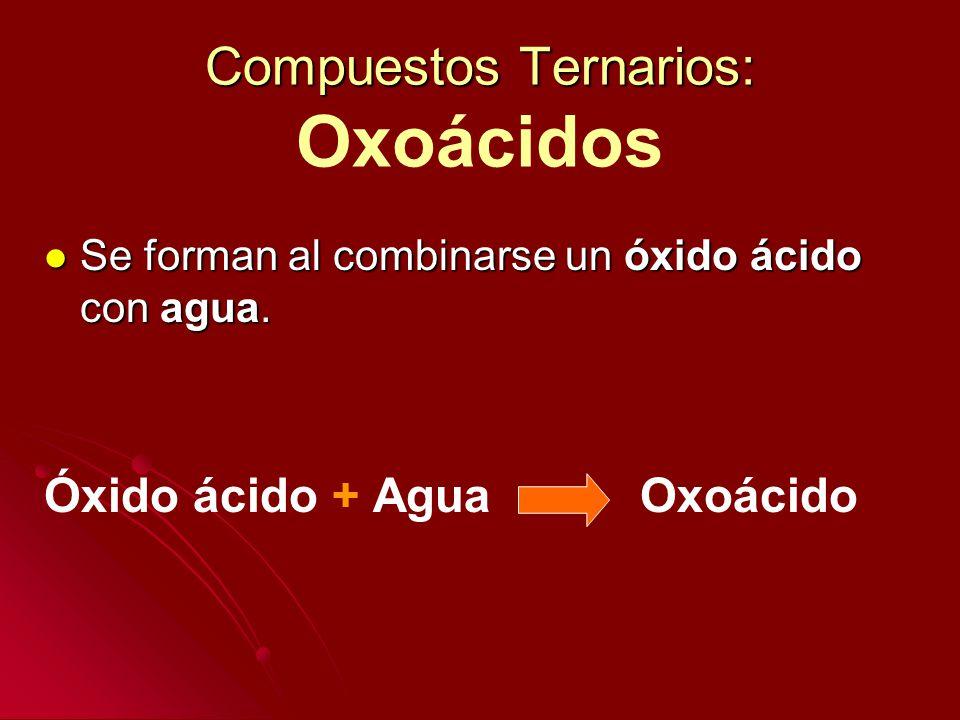 Compuestos Ternarios: Oxoácidos