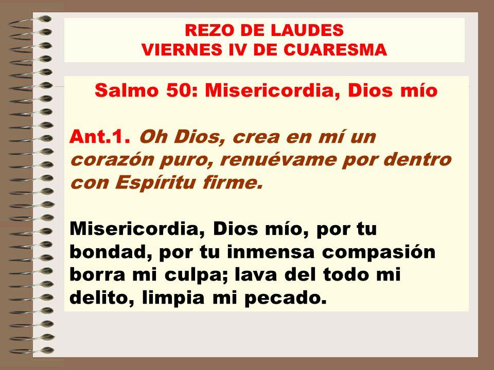 Salmo 50: Misericordia, Dios mío