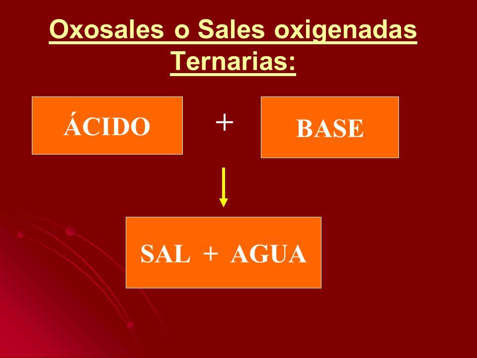 Oxosales o Sales oxigenadas Ternarias:
