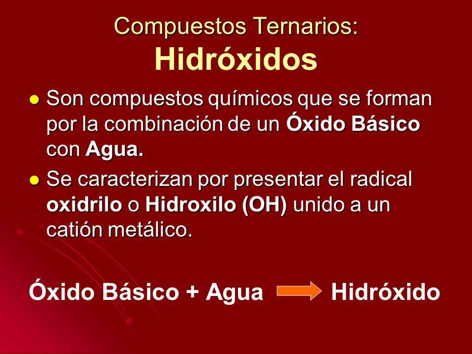 Compuestos Ternarios: Hidróxidos