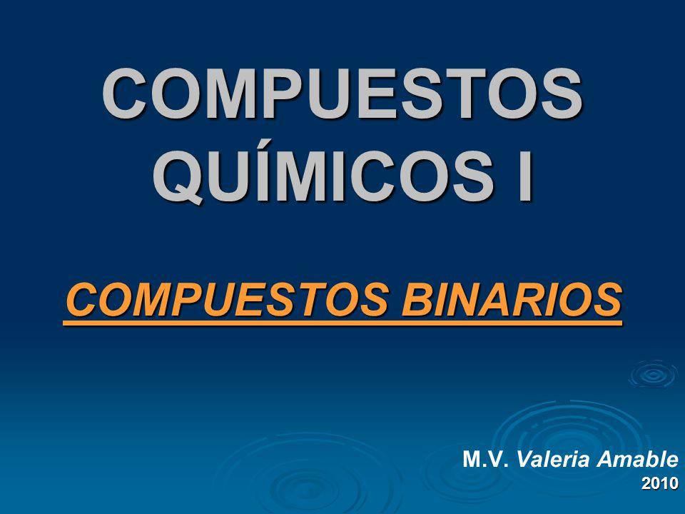 COMPUESTOS BINARIOS M.V. Valeria Amable 2010