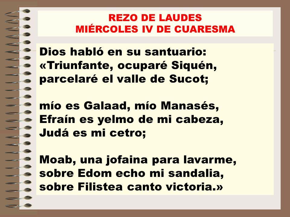 MIÉRCOLES IV DE CUARESMA