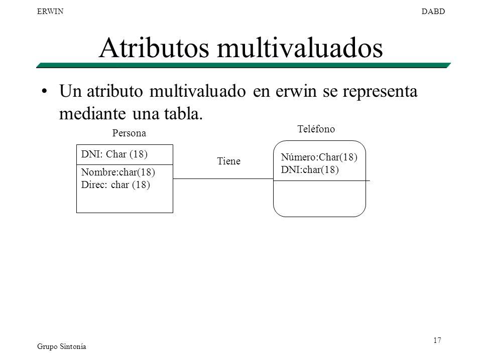 Atributos multivaluados