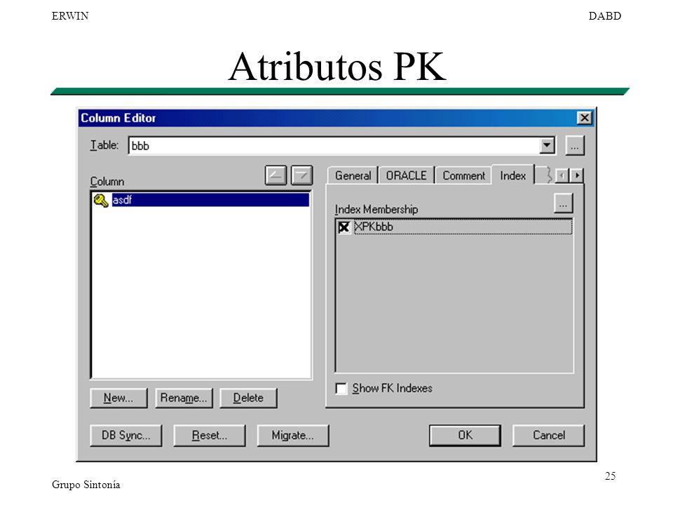 Atributos PK