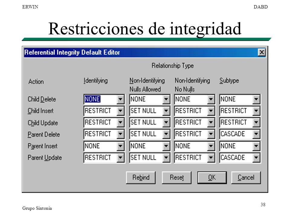 Restricciones de integridad