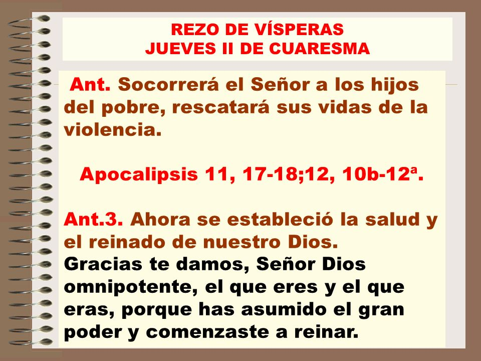Ant.3. Ahora se estableció la salud y el reinado de nuestro Dios.
