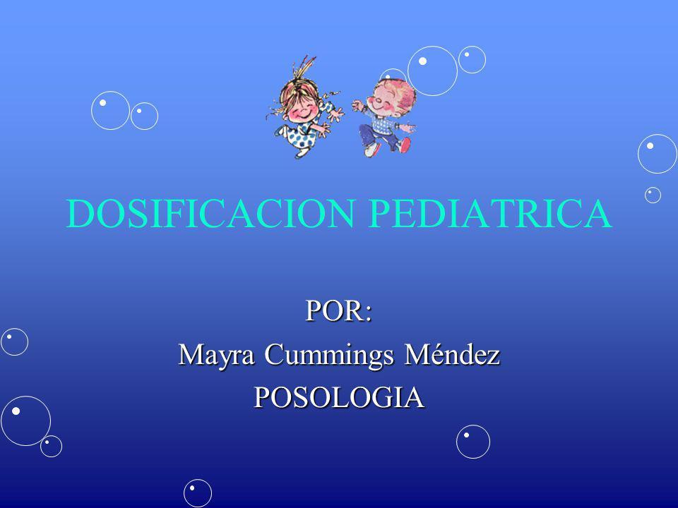 DOSIFICACION PEDIATRICA
