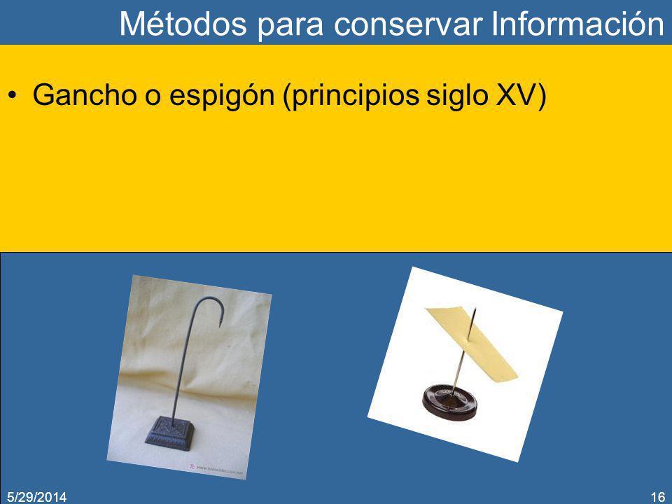 Métodos para conservar Información
