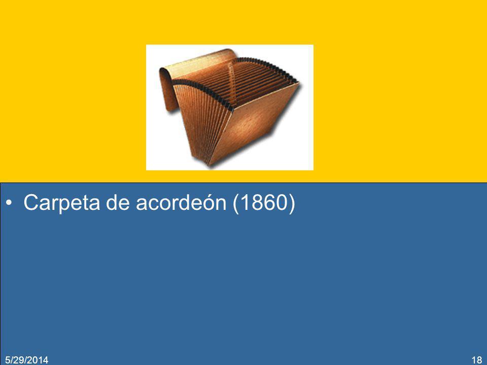 Carpeta de acordeón (1860) 3/31/2017