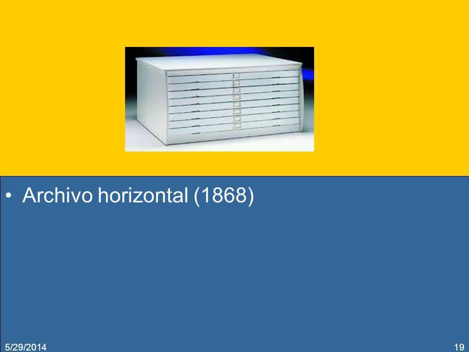 Archivo horizontal (1868) 3/31/2017