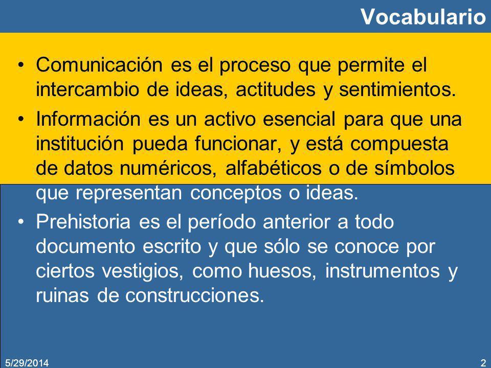 Vocabulario Comunicación es el proceso que permite el intercambio de ideas, actitudes y sentimientos.