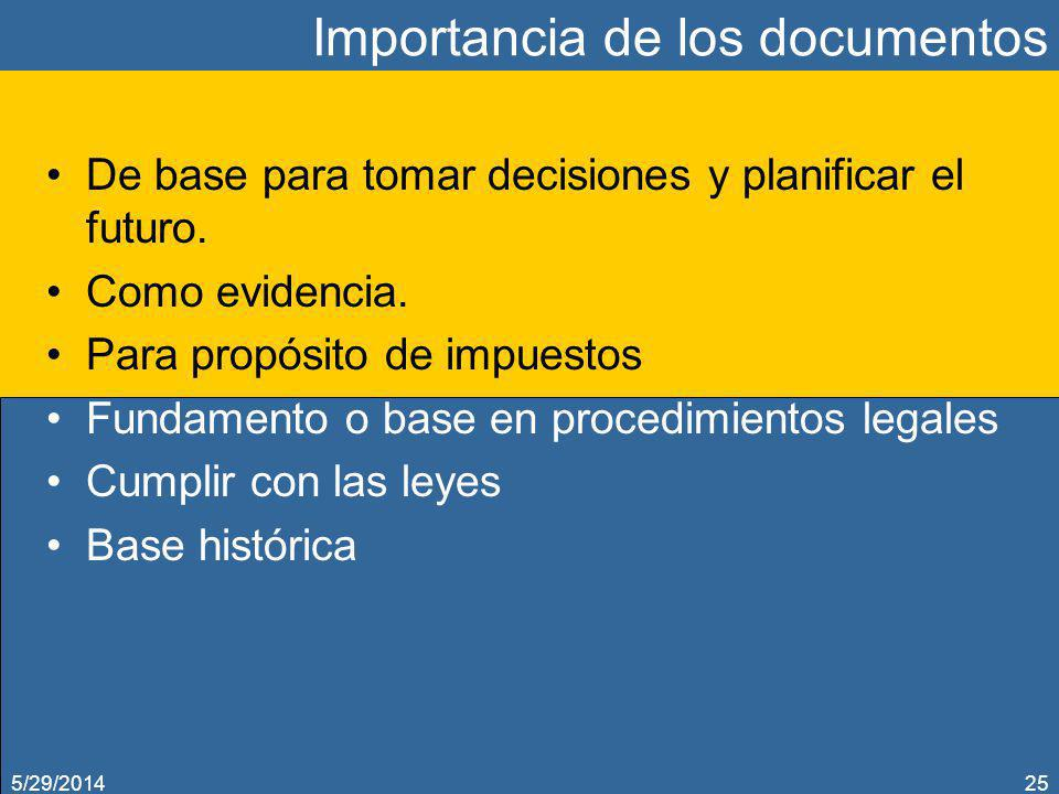 Importancia de los documentos