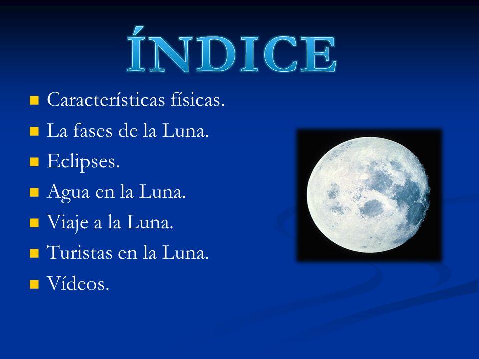 ÍNDICE Características físicas. La fases de la Luna. Eclipses.