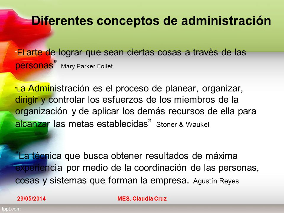 concepto de administraci n ppt video online descargar