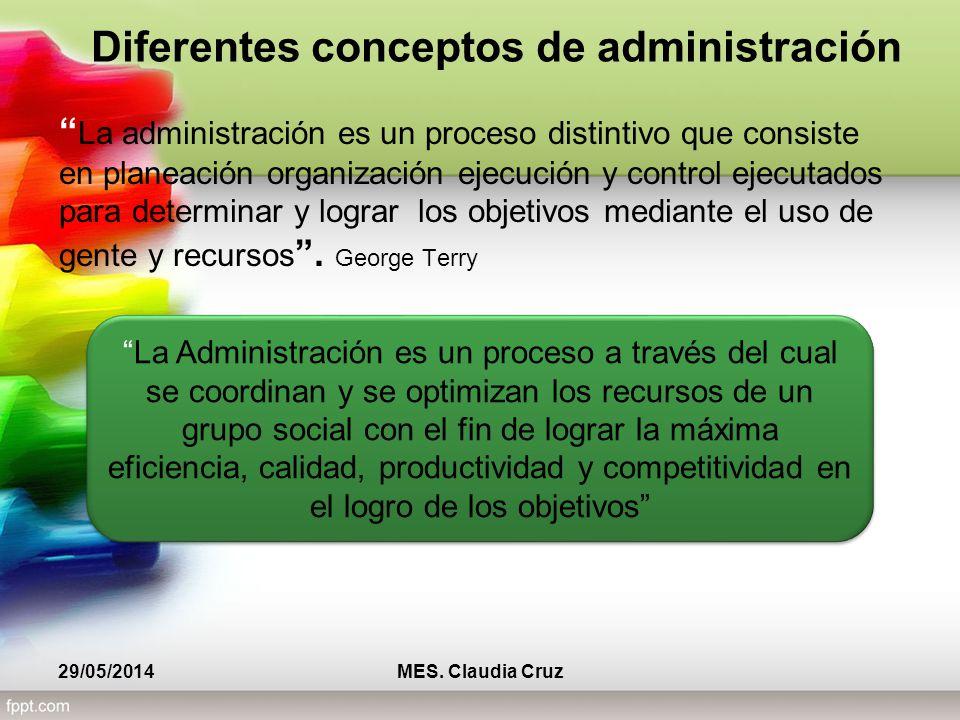 Diferentes conceptos de administración