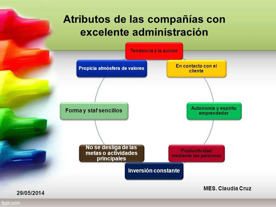 Atributos de las compañías con excelente administración