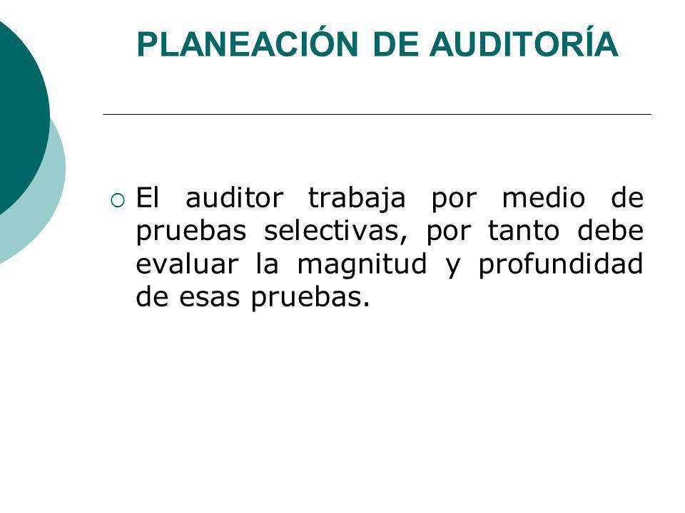 PLANEACIÓN DE AUDITORÍA