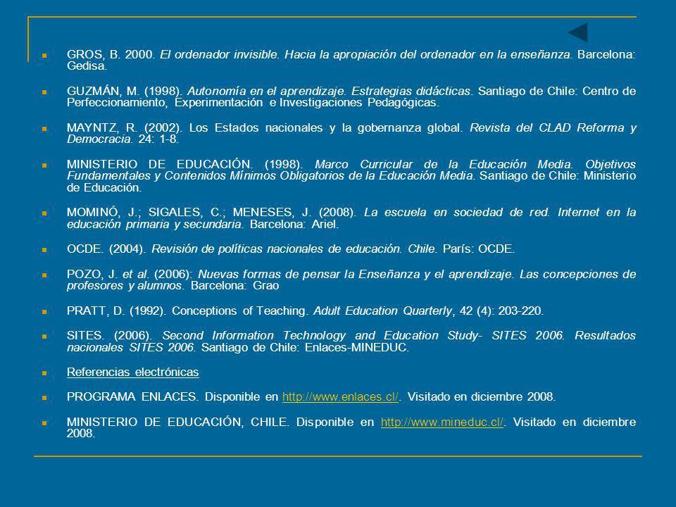 GROS, B. 2000. El ordenador invisible