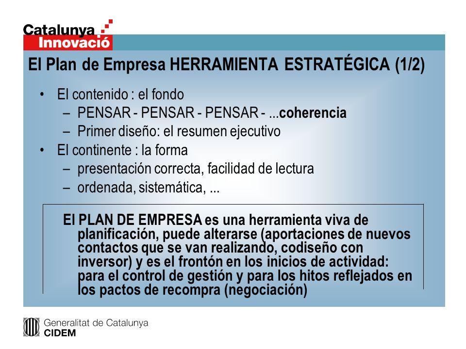 El Plan de Empresa HERRAMIENTA ESTRATÉGICA (1/2)