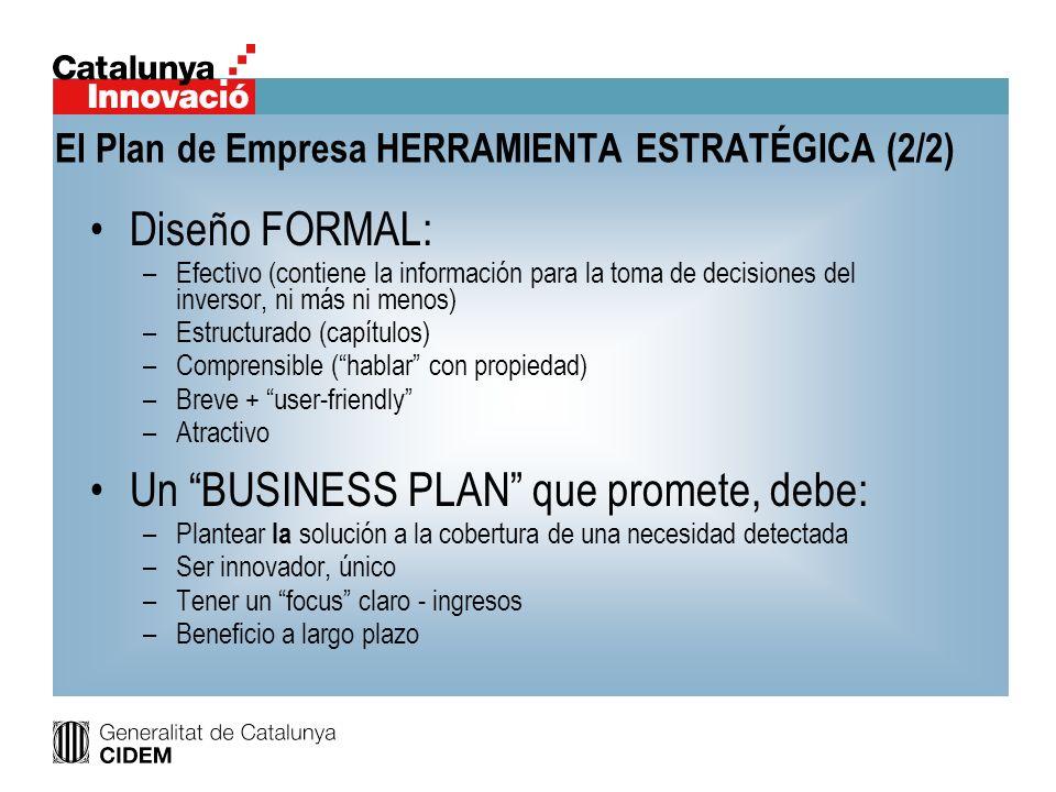 El Plan de Empresa HERRAMIENTA ESTRATÉGICA (2/2)