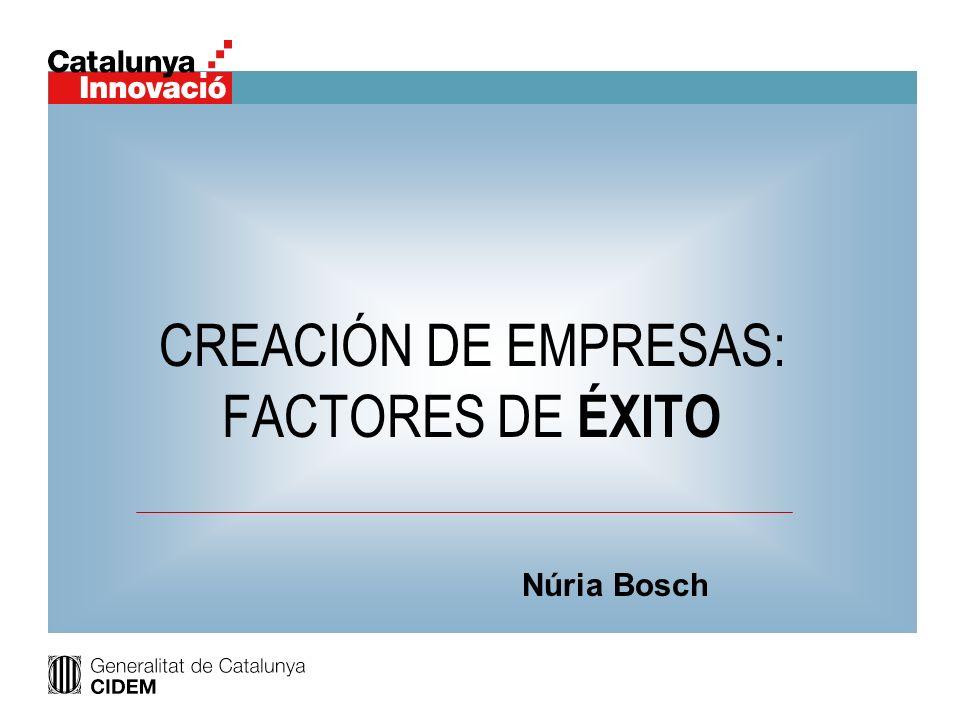CREACIÓN DE EMPRESAS: FACTORES DE ÉXITO
