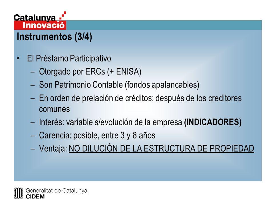 Instrumentos (3/4) El Préstamo Participativo