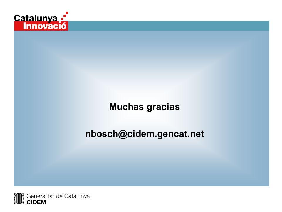 Muchas gracias nbosch@cidem.gencat.net