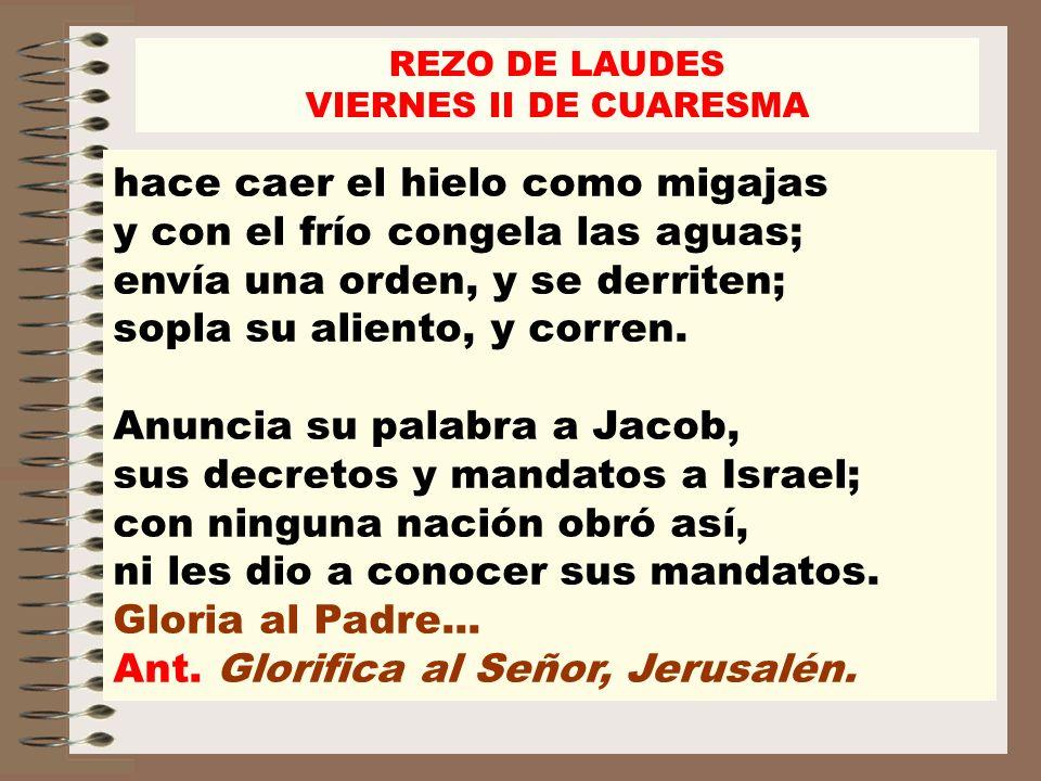Ant. Glorifica al Señor, Jerusalén.