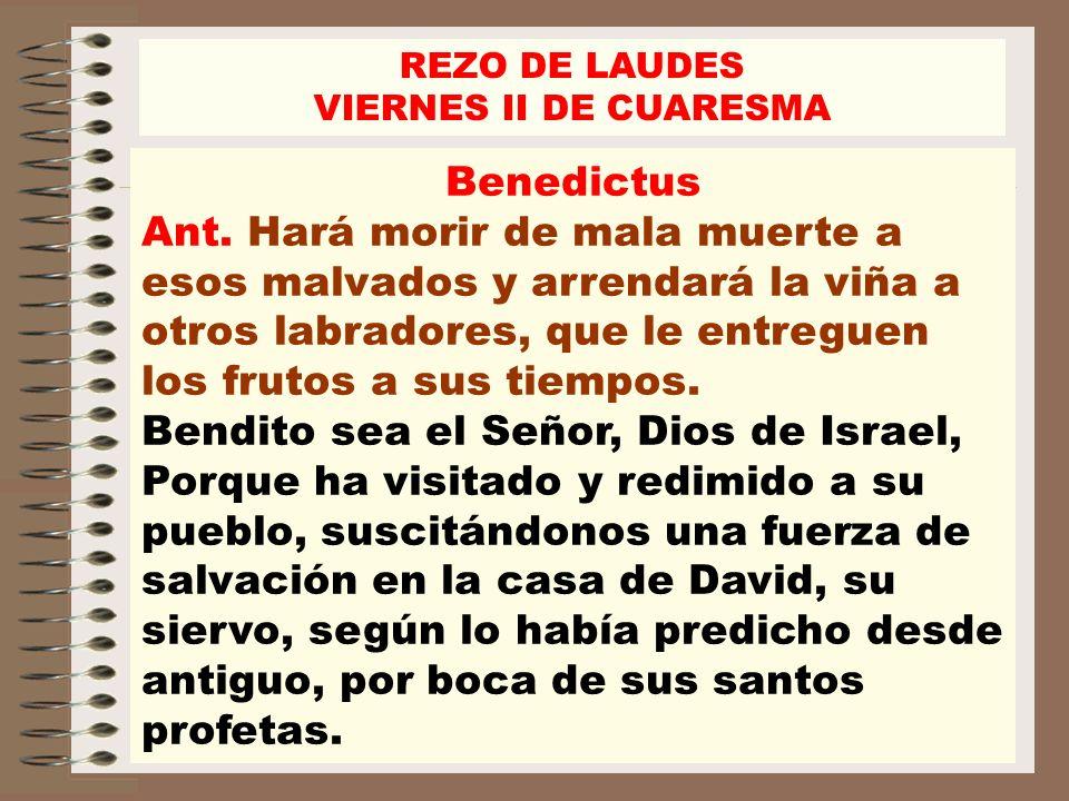Bendito sea el Señor, Dios de Israel,