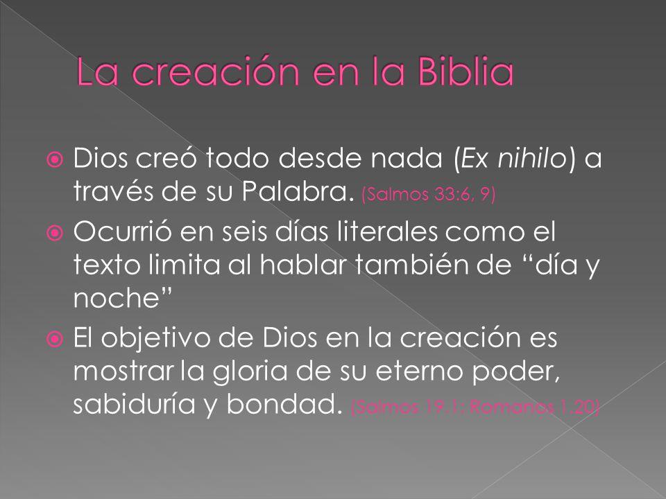 La creación en la Biblia