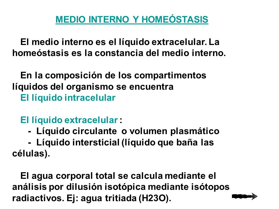 MEDIO INTERNO Y HOMEÓSTASIS
