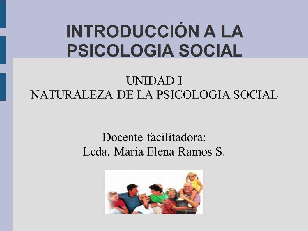 INTRODUCCIÓN A LA PSICOLOGIA SOCIAL