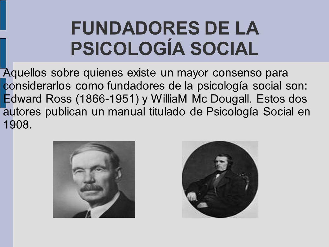 FUNDADORES DE LA PSICOLOGÍA SOCIAL