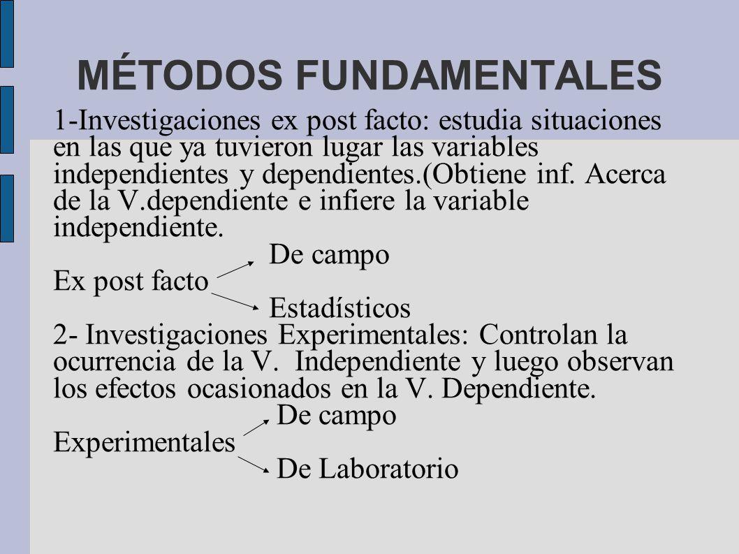 MÉTODOS FUNDAMENTALES
