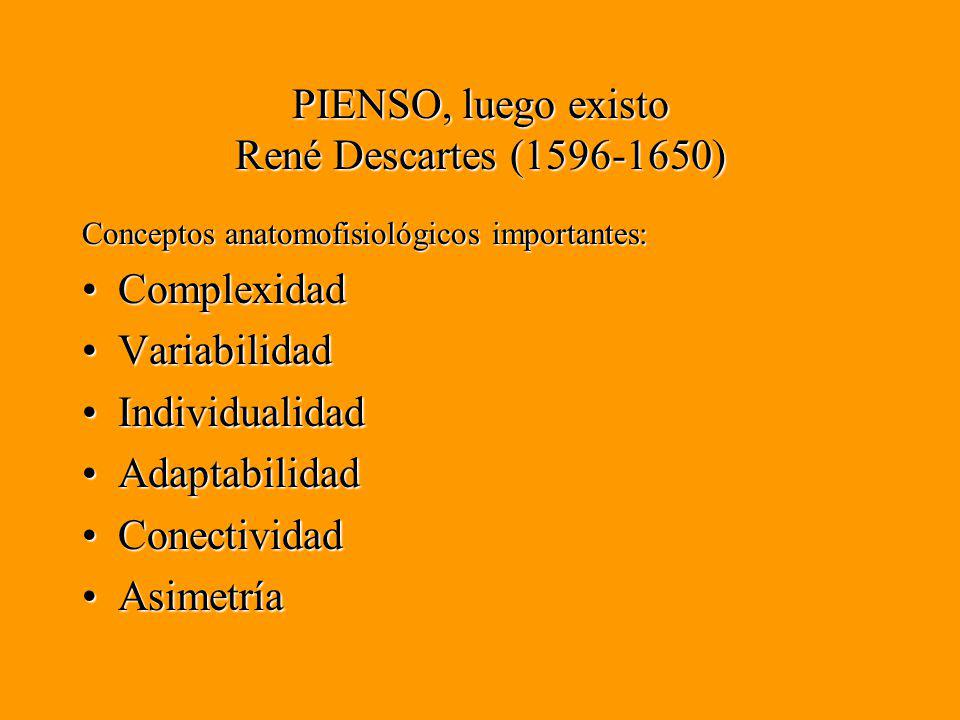 PIENSO, luego existo René Descartes (1596-1650)