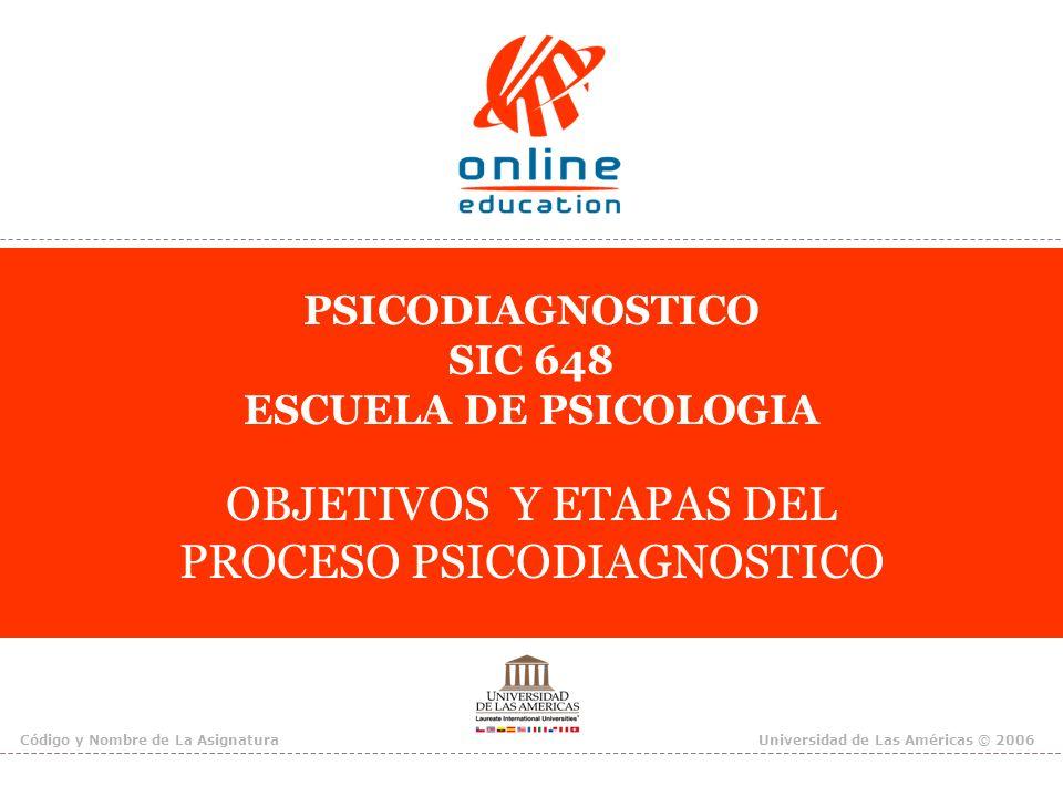PSICODIAGNOSTICO SIC 648 ESCUELA DE PSICOLOGIA