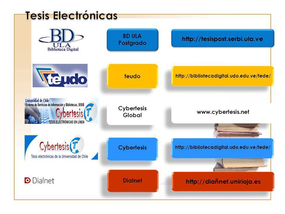 Tesis Electrónicas http://tesispost.serbi.ula.ve