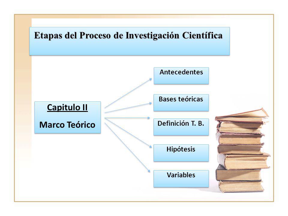 Etapas del Proceso de Investigación Científica