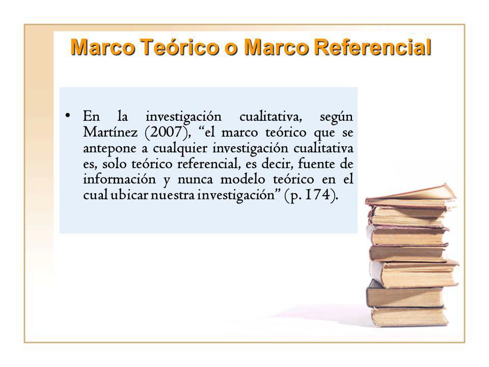 Marco Teórico o Marco Referencial