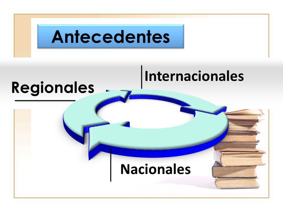 Antecedentes Internacionales Regionales Nacionales 7 7