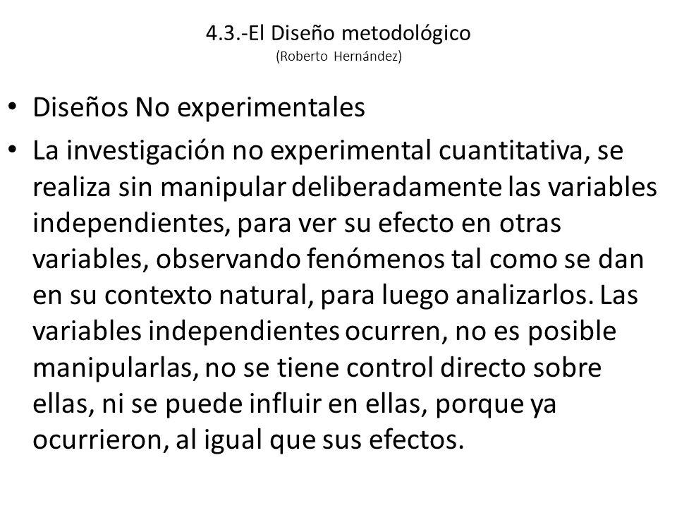 4.3.-El Diseño metodológico (Roberto Hernández)