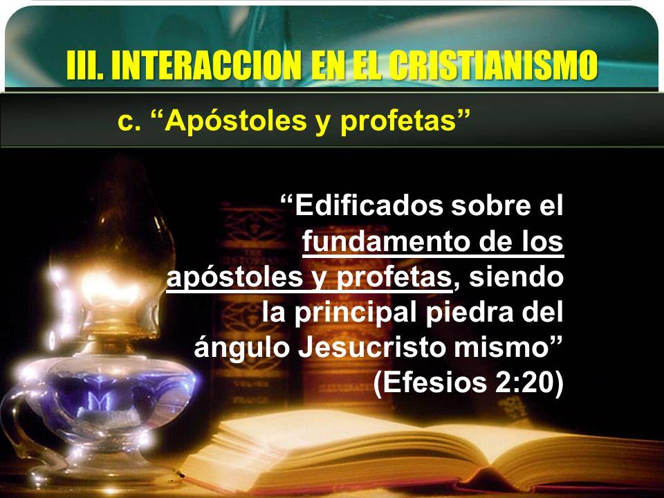 III. INTERACCION EN EL CRISTIANISMO