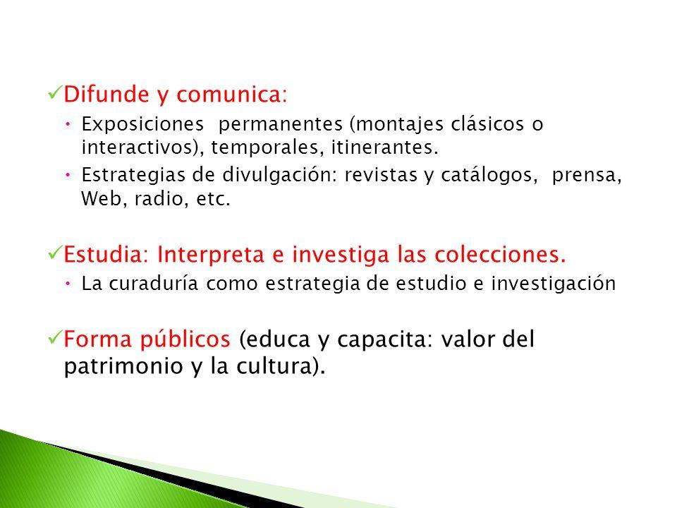 Estudia: Interpreta e investiga las colecciones.