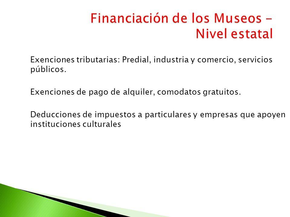 Financiación de los Museos - Nivel estatal