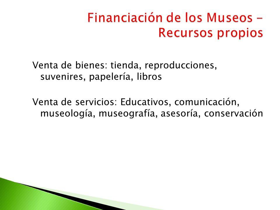 Financiación de los Museos - Recursos propios