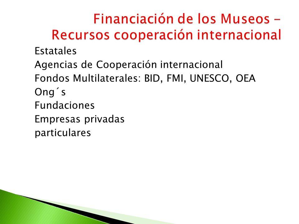 Financiación de los Museos - Recursos cooperación internacional